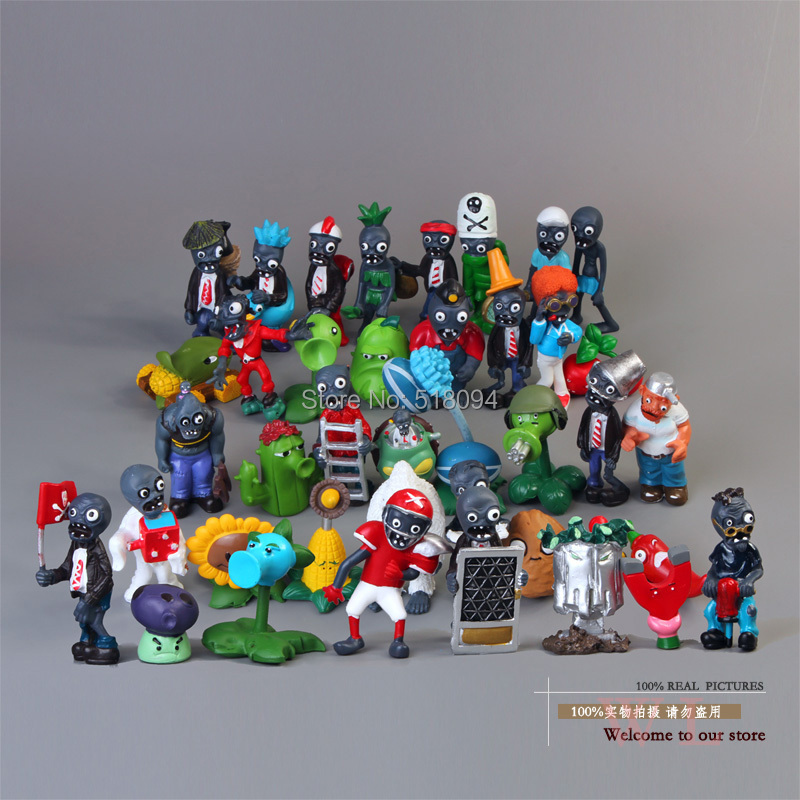 Plants vs Zombies PVC Action Figures PVZ Plant + Zombies Collection Figures Toys Gifts 40pcs/set(China (Mainland))