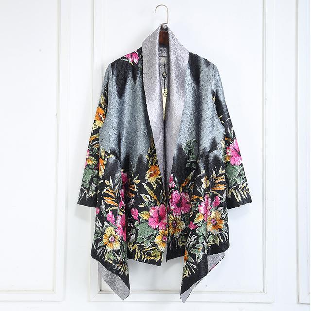 Мода женщин элегантный шелковистый доступные двойной боковой износ классический дизайн ...