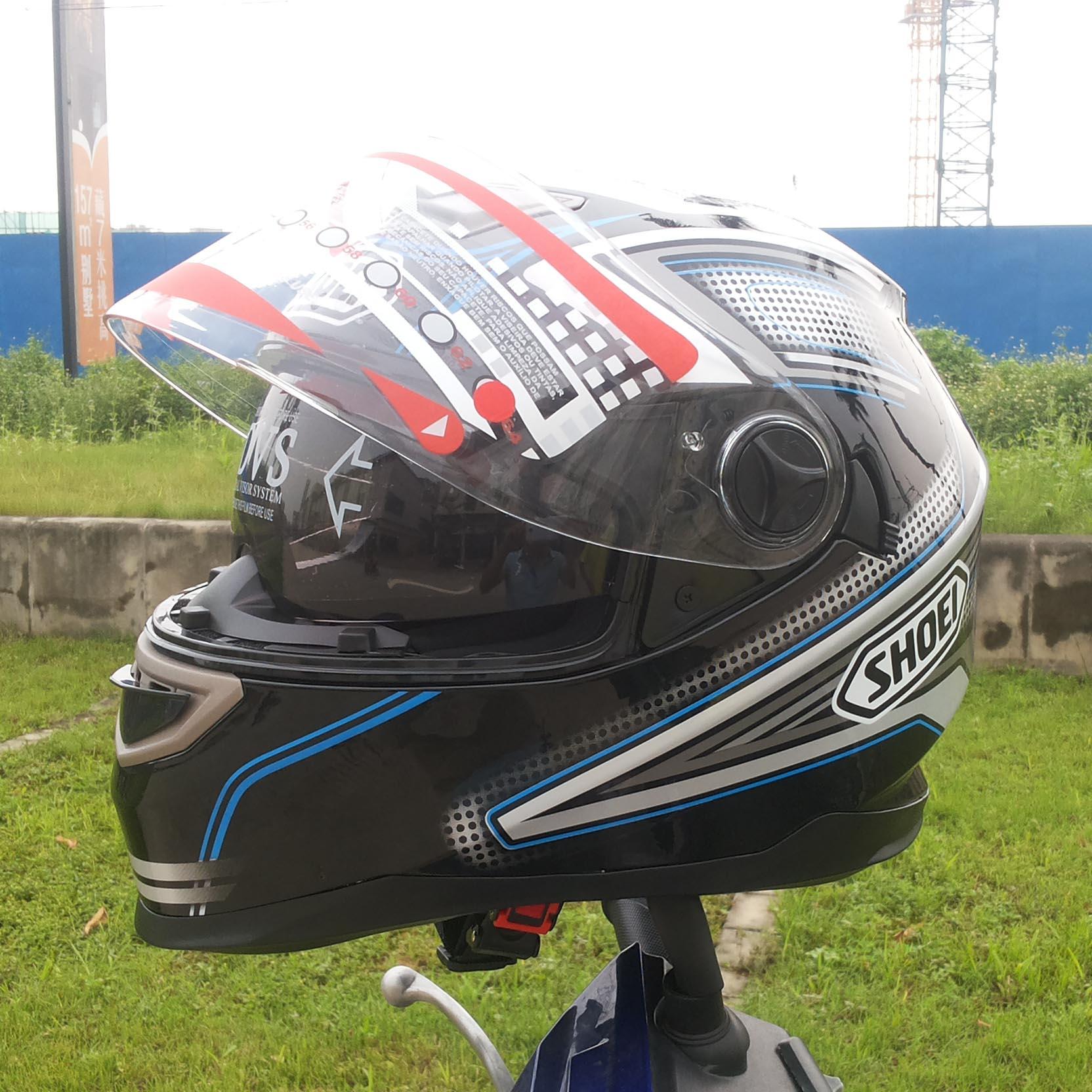 Shoei mens motorcycle helmets motocross racing helmet off road motorbike full face moto cross helmet dual shield(China (Mainland))
