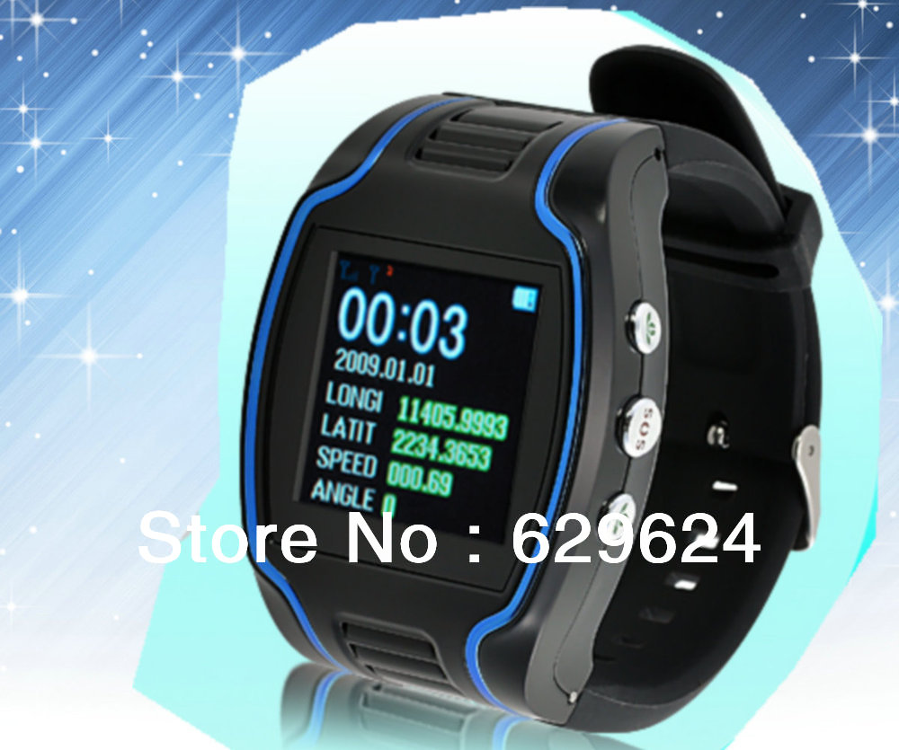 GPS Personal Watch Tracker AC1100, Supporting SMS, Mobile Calling And Web Base Real Time Tracking.