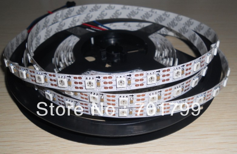 White 4M WS2811 LED digital strip,60leds/m with 60pcs WS2811 built-in tthe 5050 SMD rgb led chip.non-waterproof,DC5V input(China (Mainland))