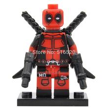 Wholesale Marvel Deadpool Super Heroes Minifigures X-Men Building Blocks 20pcs/lot Sets Models Bricks Toys Figures