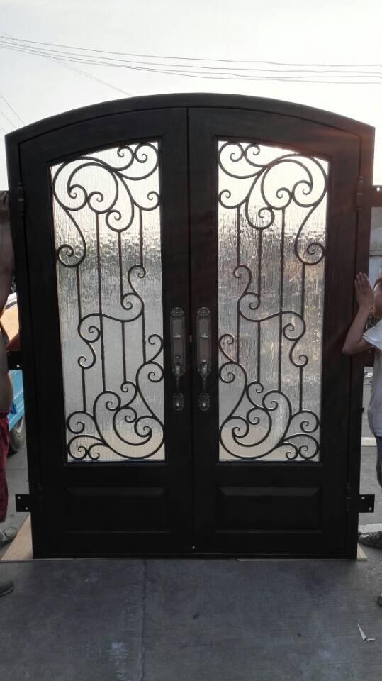 Comprar hierro forjado puertas dobles de for Puertas de entrada de hierro