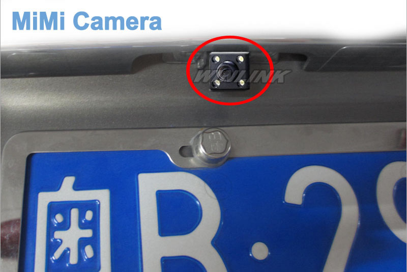 Free Shipping 170 Degree Waterproof 4 LED Night Vision Car CCD Rear View Camera Parking Assistance
