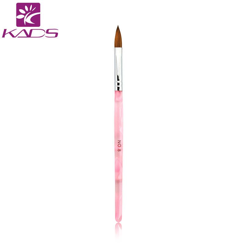 1 Pcs 8# Fashion Nail Art Pink Brush Acrylic Handle Beauty Nail UV Gel Acrylic Brush For Acrylic Nail Brush Kolinsky Sable Brush(China (Mainland))