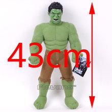 Marvel Vingadores Capitão América Homem De Ferro Hulk Thor Spiderman Toy Plush Macio Stuffed Animal Boneca de Presente para Crianças Menino 43 cm(China)