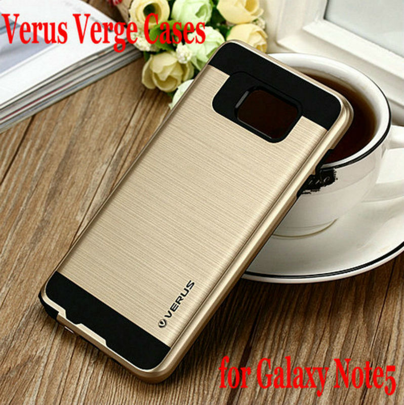 2015 Newest Verus High Quality Verge Brushed PC+TPU Cases for Samsung Galaxy Note5 Tough Armor Layered Slim Armor Cover(China (Mainland))