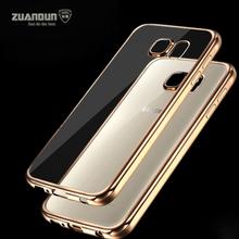 Покрытие Силиконовой Case Для Samsung Galaxy S5 S6 S7 S6 Edge Кристалл Clear Case Для Samsung S7 Edge Note 4 Мягкой ТПУ Задняя Крышка(China (Mainland))