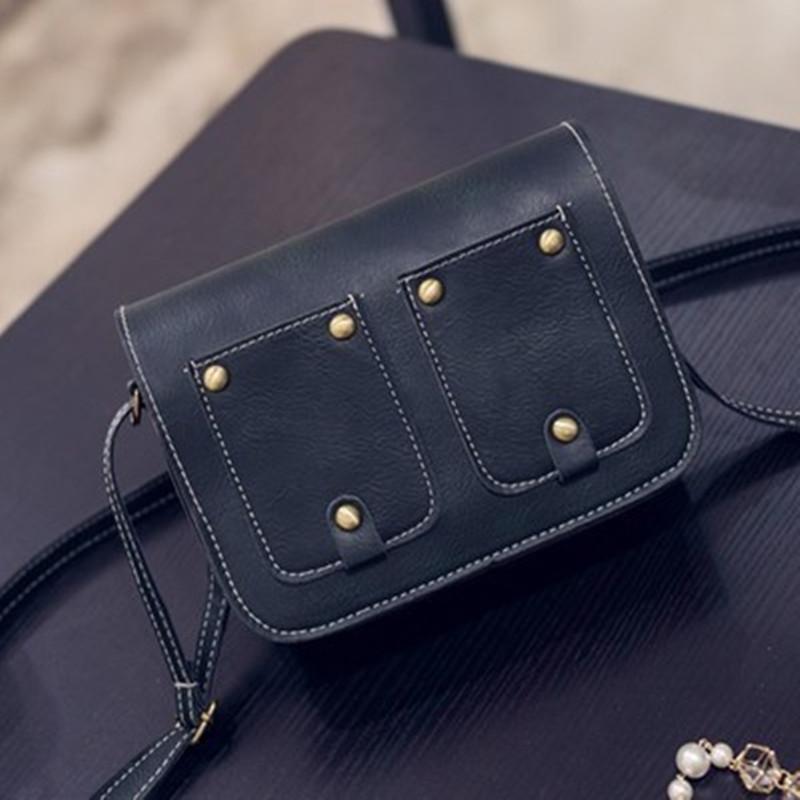 Vintage Casual Rivet Mini Flap Girl Clutch New Fahsion Women Handbag Ladies Party Purse Famous Crossbody Shoulder Messenger Bags(China (Mainland))