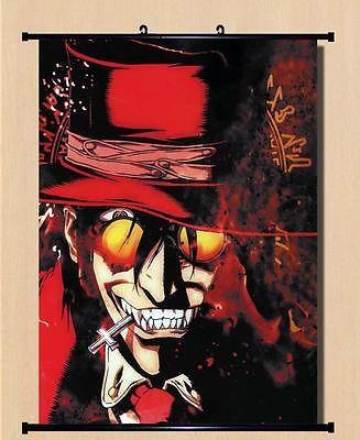 Home Decor Japanese Anime Wall poster Scroll Hellsing Alucard Cosplay Art 01