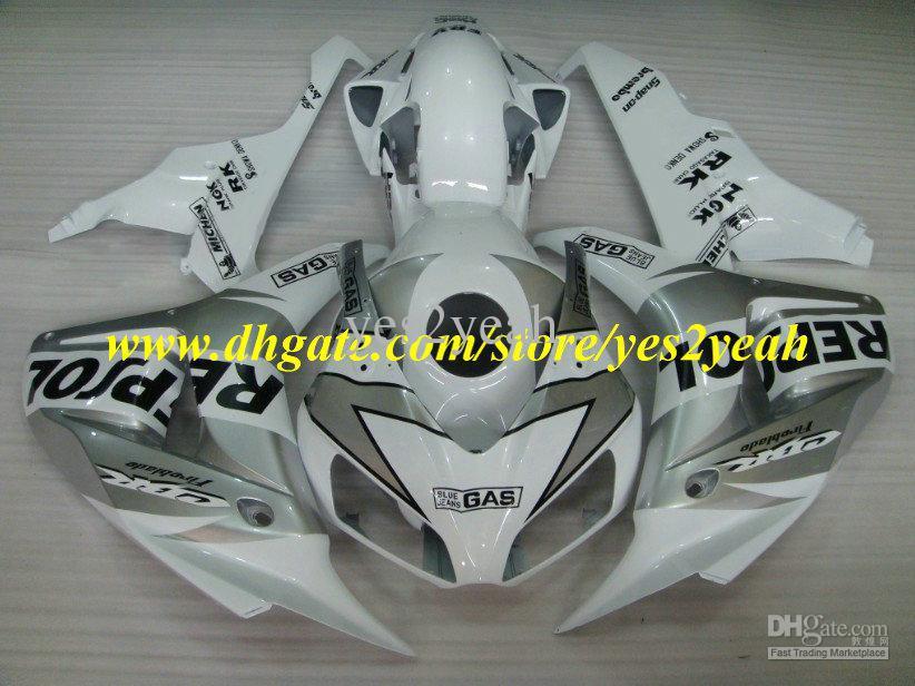 Gifts REPSOL White Injection Molding for 06 07 Honda CBR1000RR fairinn kit CBR 1000RR 2006 2007 cbr1000rr Fairings A(China (Mainland))