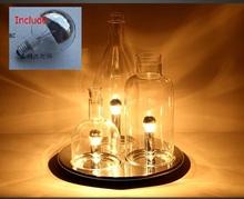 Modern LED Table Lamp 3PCS Bottle Table Bedside Lamp Glass Lampshade Decoration Study Office Lampe Bureau 110-240V Desktop Lamp