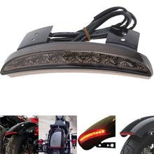 New Motorcycle Custom Bike Smoke Rear Fender Edge Red LED Brake Tail light For Harley Sportster XL 883 1200 Moto Accessories Hot(China (Mainland))