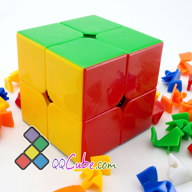 Second order magic cube 2 magic cube multicolour red orange yellow green blue
