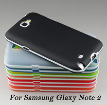 Ultra-Thin Soft Translucent Rubber TPU Bumper Case For Samsung Galaxy Note 2 Cases For Galaxy Note 2 N7100 II Phone Cover Capa(China (Mainland))