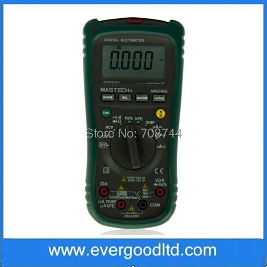 Мультиметр EVERGOOD DMM NCV MS8260G мультиметр defort dmm 1000n