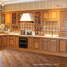 2016 Free design Customize solid wood kitchen cabinets with solid wood door panel integral ambry OP15-006(China (Mainland))