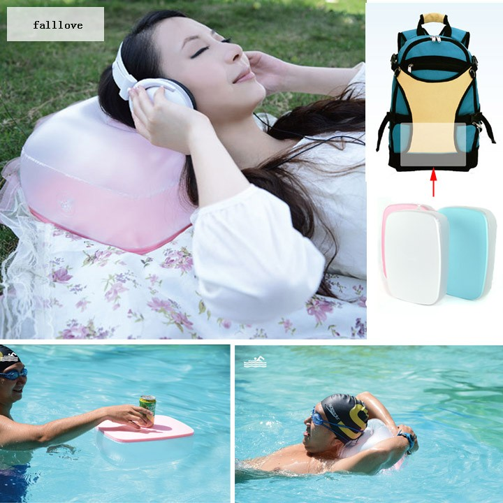 Hot Sales! Multi Functional Table Folding Air Table Laptop Desk Pillow Cushion Inflatable White/Blue/Pink b015(China (Mainland))