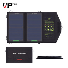 ALLPOWERS 5V 10W Portable Solar Charger Power Bank Outdoor Battery Panel Charger for iphone Samsung HTC Sony LG .