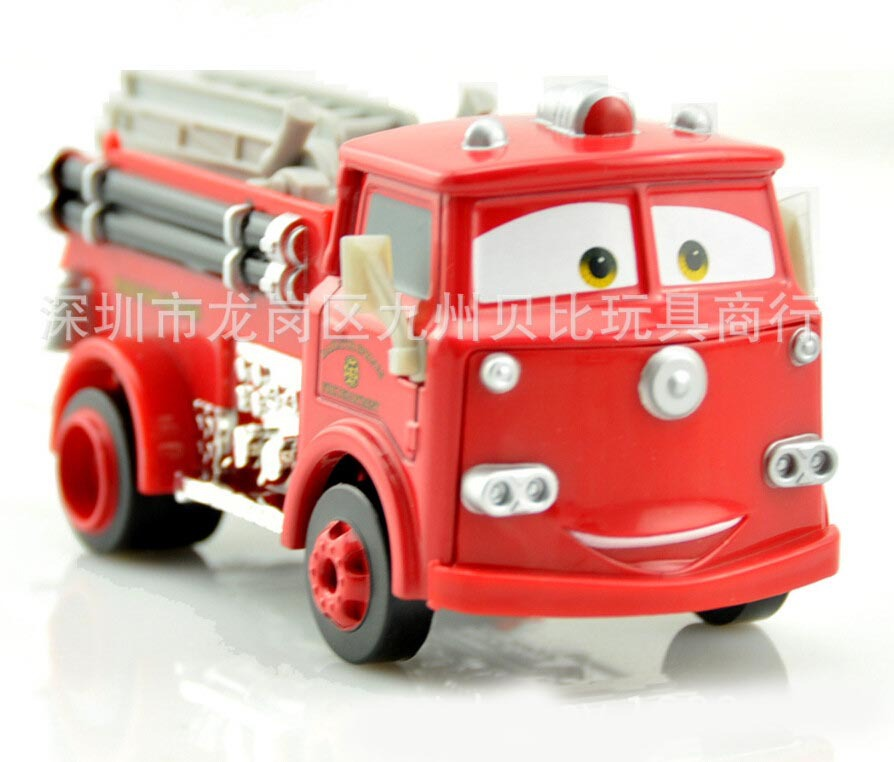hot toys 1:43 mini cars toys animation Fire Fighting Truck little Red car trunk alloy metal diecast race car toys children toys(China (Mainland))