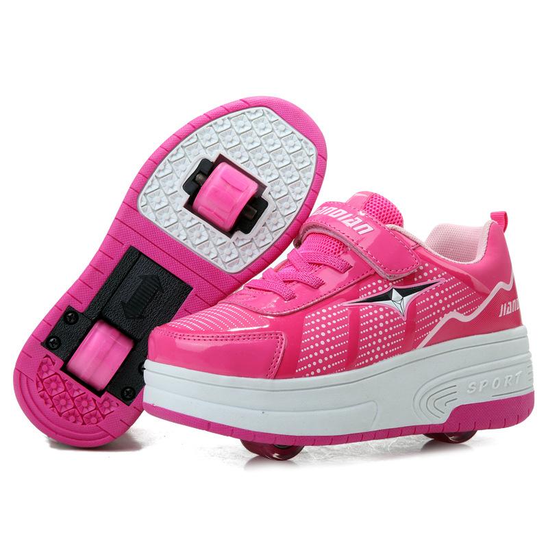 2016 k��hlen Heelys Roller Schuhe Jungen Turnschuhe Rollschuhe Schuhe Doppel Wheelie Schuhe Schoenen Erf��llt Wieltjes Zapatillas