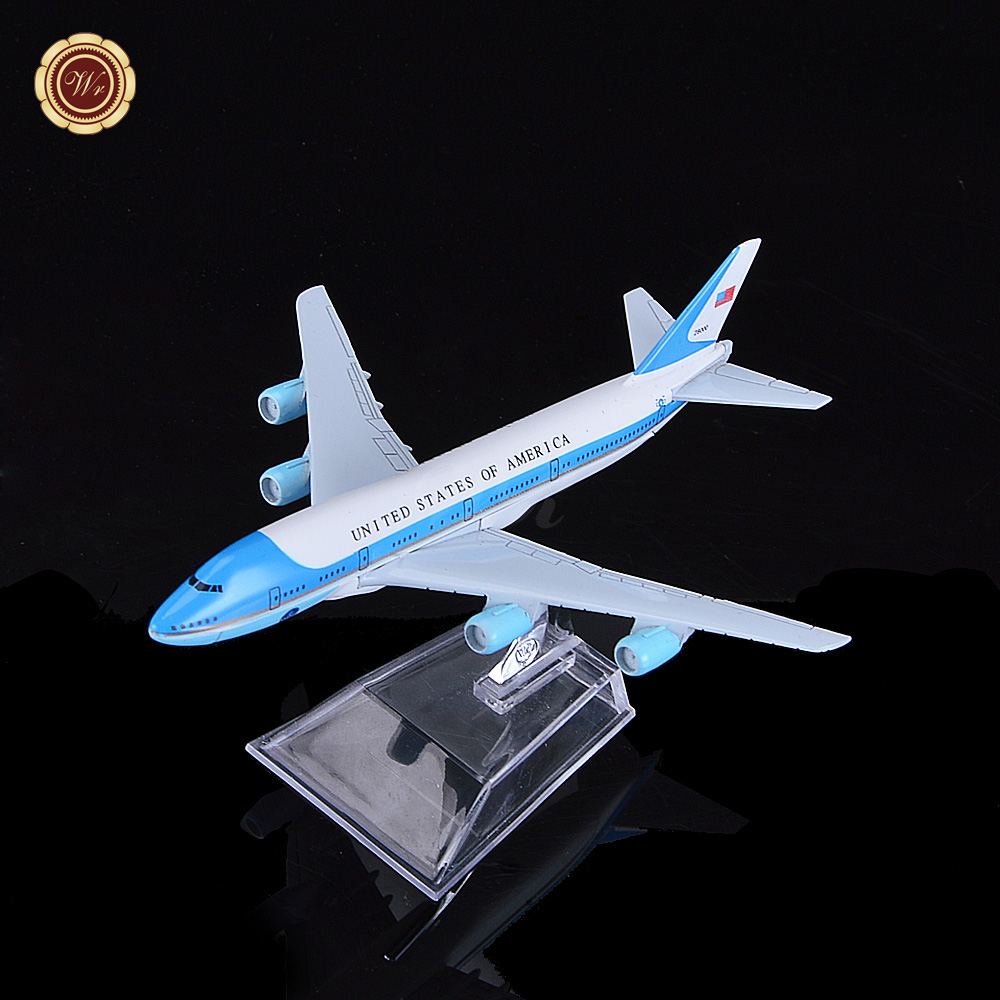 Hot Selling 16cm Zinc Alloy Flying Model Aircraft Airliners America Boeing Toy Model Plane Birthday Gift(China (Mainland))