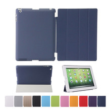 For Apple iPad 4 3 2 Smart Case Original brand aiyopeen pu Leather +solid pc back cover magnetic wake up sleep for ipad 9.7 inch(China (Mainland))