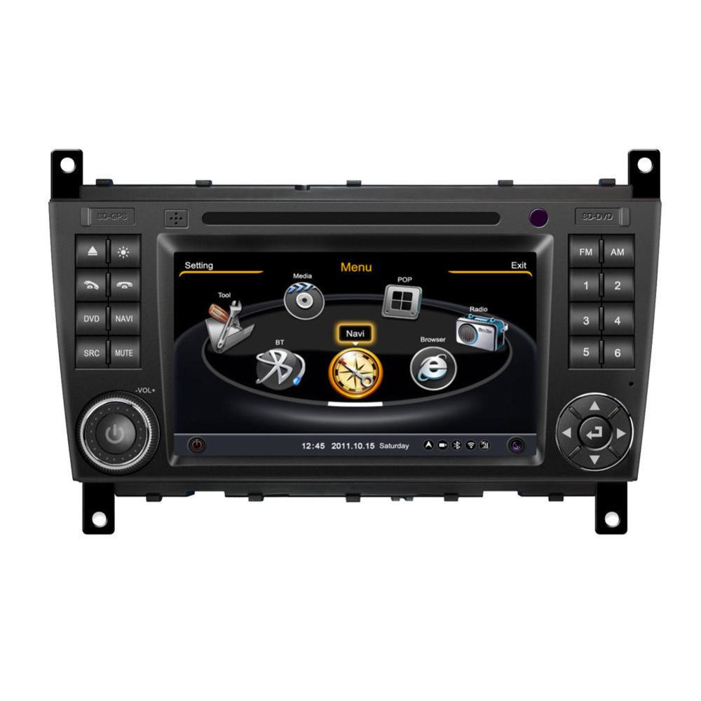2 din dvd gps navigation radio for mercedes benz c class for Mercedes benz truck radio code