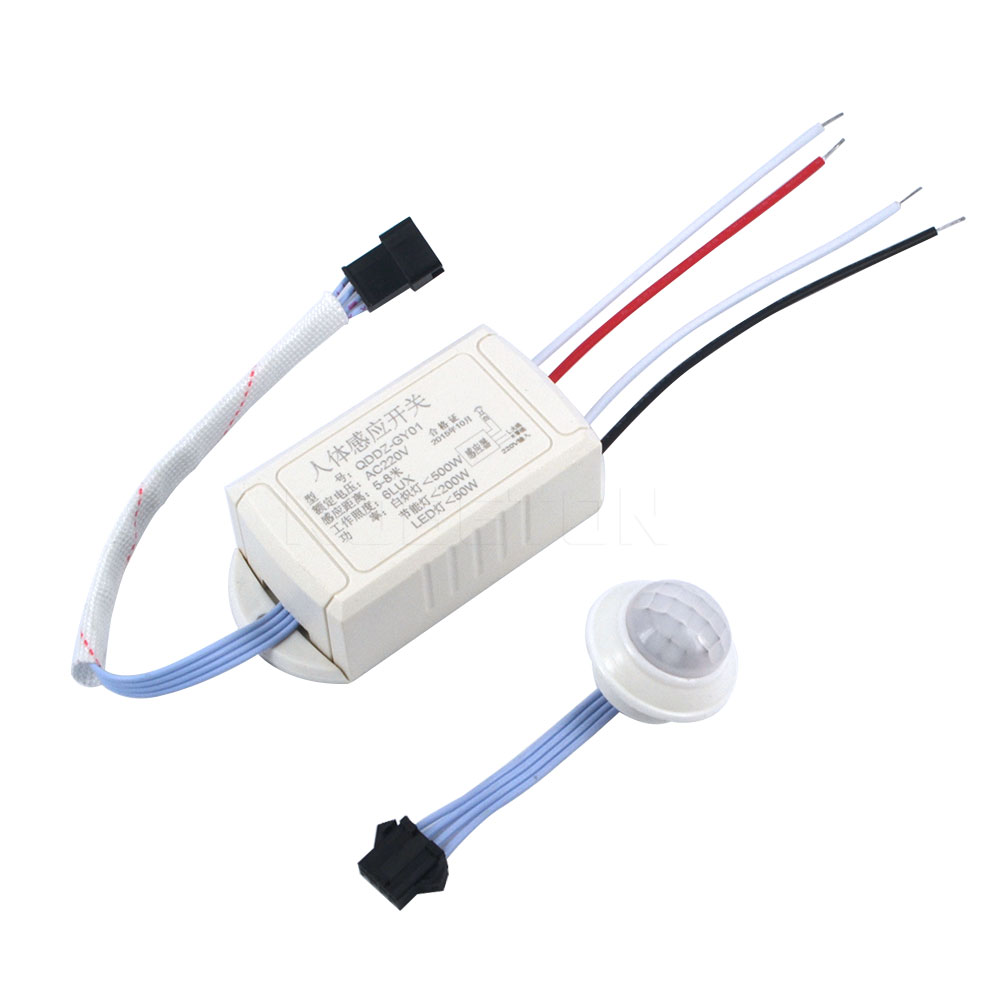 2017 Newest 1pc Pyroelectric 220V PIR IR Infrared Module Body Induction Sensor Intelligent Auto Light Motion Sensing Switch