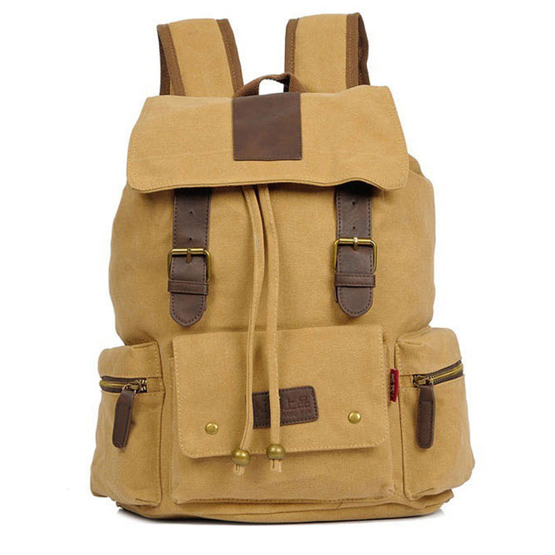 2015 New Casual Canvas Men Backpack Retro Vintage Male Students School Bags Outdoor Man Shoulder CA0612