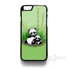 For iphone 4/4s 5/5s 5c SE 6/6s 7 plus ipod touch 4/5/6 back skins mobile cellphone cases cover CUTE PANDA BEAR