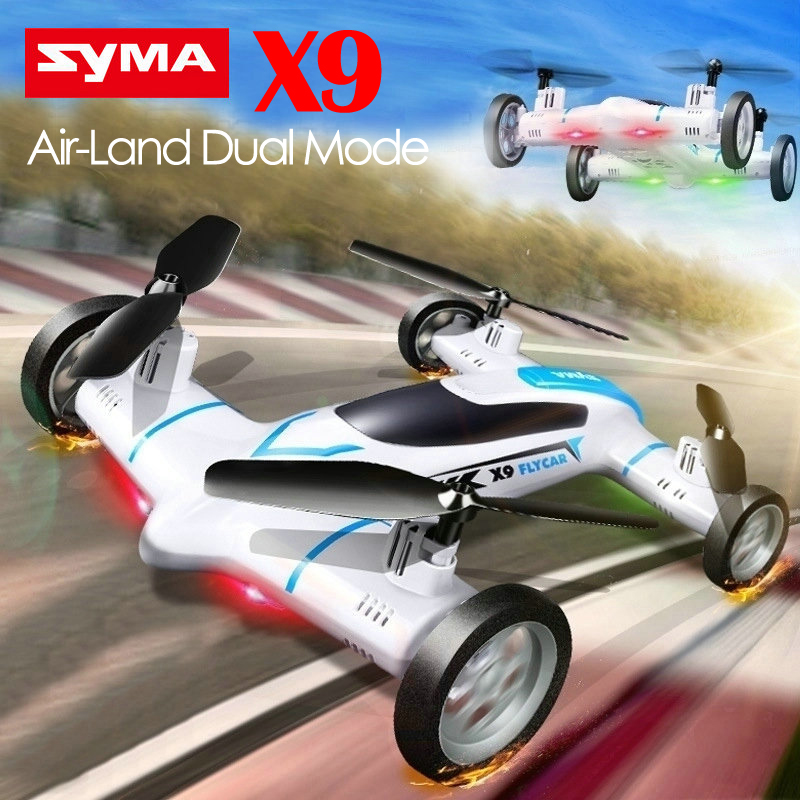 Фотография Syma X9 Mini Drone Air-Land Dual Mode RC Flying Car Quadcopter 2.4G 4CH 6-Axis Speed Switch With 3D Flips