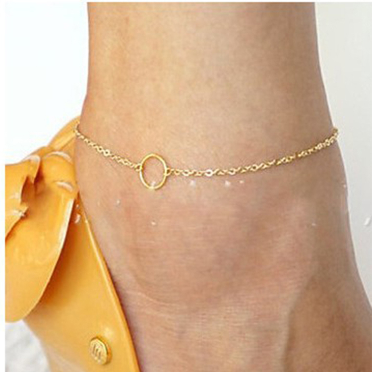 1pc Unique Simple gold Anklet Ankle Bracelet Chain Anklets Bracelets Foot Jewelry For Women Tornozeleira Leg Chain Tobillera(China (Mainland))
