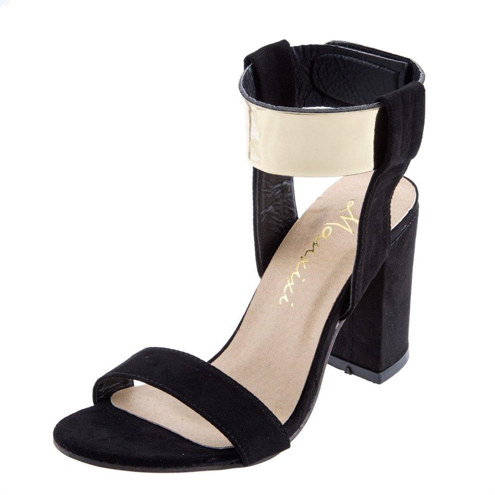 Black party sandals - 2016 New Women Thick Heel Sandals Fashion Bling Glitter Metal High Heels Summer Shoes Fashion Black Party Sandals Shoes