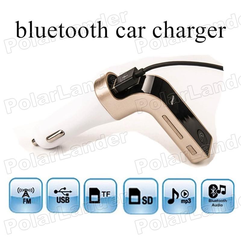 CAR G7 Bluetooth Auxin input support TF/SD card Music Player USB Charger FM Transmitter modolator car kit MP3 player(China (Mainland))