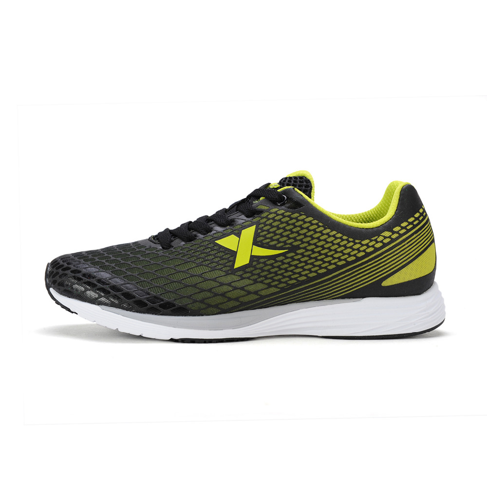 xtep mens running shoes with yellow green stylish