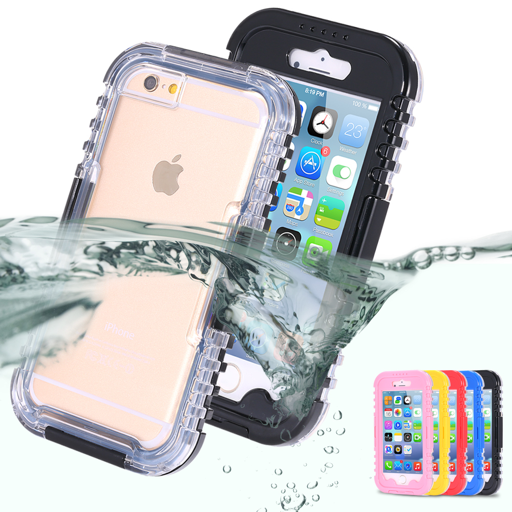 i6 / plus! Waterproof Swim Diving Case For Apple iphone 6 4.7 / Plus 5.5 Clear Front & Back Cover Accessories Strap Pouch Cover(China (Mainland))