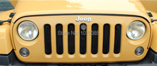Black Mesh Grill Insert With Engineer Cover Lock hole For 2007-2015 Jeep Wrangler JK(China (Mainland))