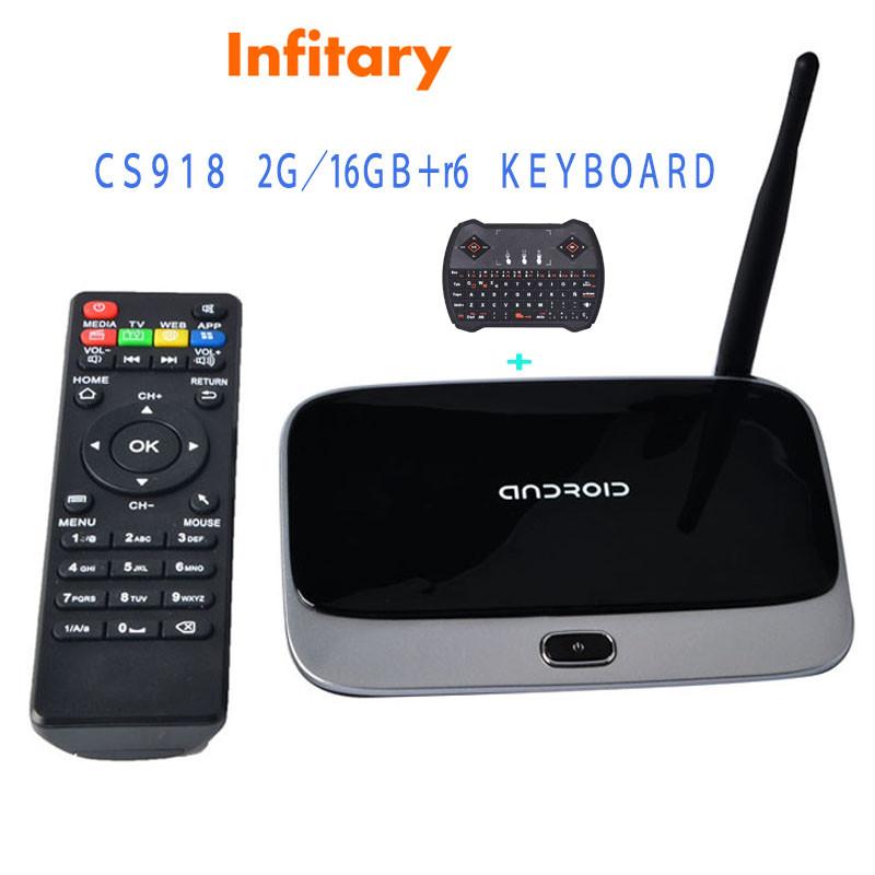 Фотография Android smart TV Box Quad Core set-top box Media Player CS918 kodi Support XMBC 1080P HD 2GB/16GB+R6 wireless USB keyboard