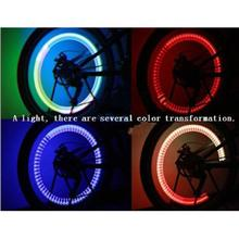 2015 New Colorful LED Automatic change color Flash Tyre Wheel Valve Cap Light for Car Bike Wheel Light Tire Light(China (Mainland))