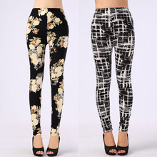 New Arrival Women Printed Leggings Spandex Knitted Fashion Skinny Leggins Primavera Pants Women(China (Mainland))