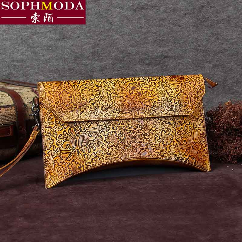 Vintage bag 2016 Europe lady hand head layer cowhide hand bag female clutch made of large capacity leather tide(China (Mainland))