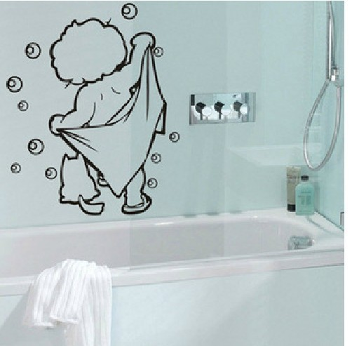 lovely baby love shower wall stickers bathroom glass door stickers