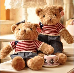 40 cm Free shipping cute teddy bear toys boys and girls hot!!!!! Lovely toy doll plush toys(China (Mainland))