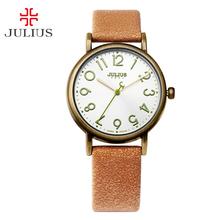 Top New Julius Unisex Women's Watch Multicolors Fine Fashion Hours Dress Bracelet Retro Leather Girl Birthday Mother's Gift