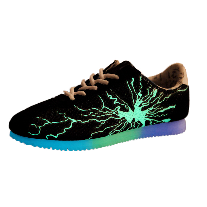 SM866 Light Up Shoes For Adults Casual Men Shoes Breathable Snake Print Automatic Glowing Shoes Walking Luminous Shoes<br><br>Aliexpress