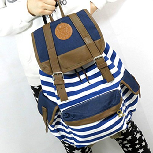 SAF-Striped Travel Rucksack School Bag Tracking No. & A Exclusive Gift(China (Mainland))