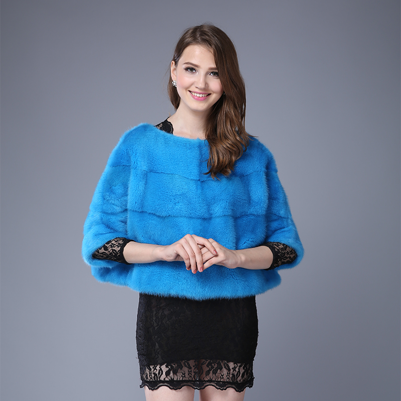 Fashion Full Pelt Real Mink Fur Coats For Female Tendency Batwing Sleeve Outwear Coats Genuine Mink Fur Pullover Womens ClothesОдежда и ак�е��уары<br><br><br>Aliexpress