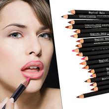 2016 Hot Professional Waterproof makeup Lipliner Pencils Pen 19 Colors Xmas