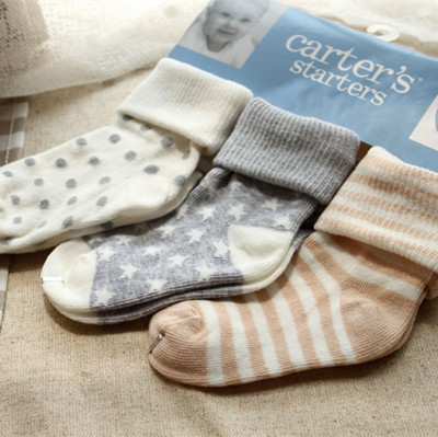 2015 new 3 Pairs/lot Carters Cotton Sock baby girl's boy's socks New Born Infant Carters socks carters baby boy(China (Mainland))